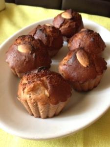 muffin tortino integrale mele cannella cioccolato mandorle