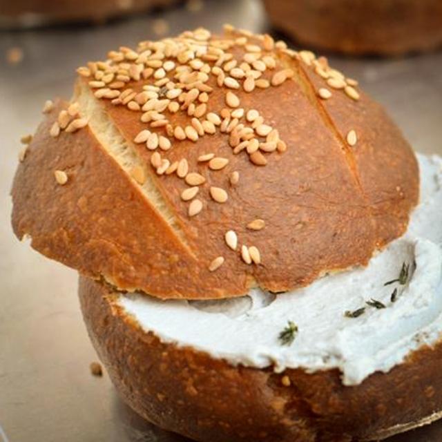 panino irish con formaggio vegetale spalmabile