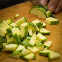 zucchine a dadini