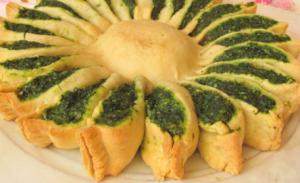 torta spinaci a girasole