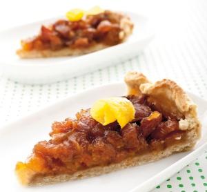 crostata di albicocche caramellate