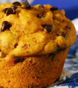 muffin di zucca con gocce di cioccolato