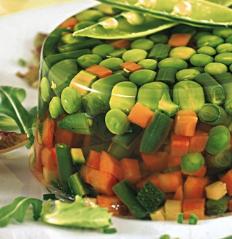 verdure gelatina aspic