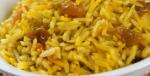 riso con uvetta e curcuma
